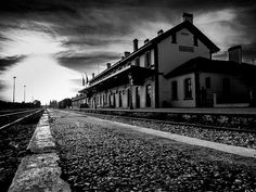 Drama, Makedonia, Greece / Train Station, photo by Vegaslyra Macedonia Greece, Visit Greece, Train Station, Planet Earth, Railroad Tracks, Planets, Greek, Places To Visit, Drama
