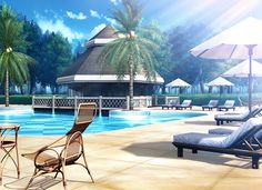 Beach, Scenery, Background, Anime Background, Anime Scenery, Visual Novel Scenery, Visual Novel Background