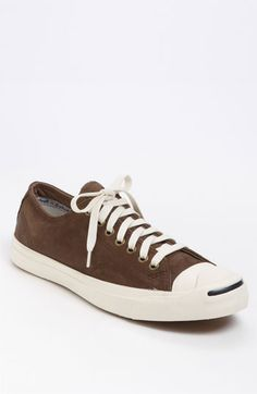 Converse 'Jack Purcell LTT' leather sneaker in chocolate