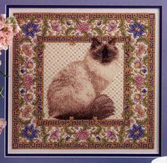 """Teresa Wentzler """"Tapestry Cat"""". I have this from a cross-stitch magazine."""