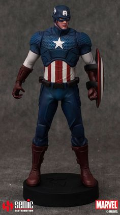 Marvel Museum Collection: Captain America 1:9 Statue  Semic Distribution  The Avengers, Captain America, Marvel Museum Collection www.detoyboys.nl