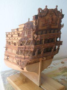 VERY detailed Soleil Royale model stern