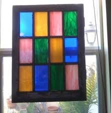 DIY stained glass. Totally doing this to the double doors in my house.