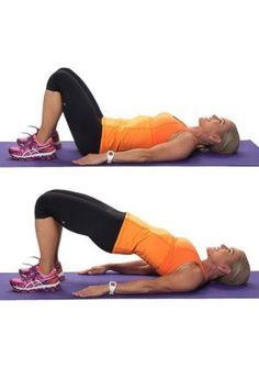 Slimming Remedies The Weight Training Workout For Seniors: Glute Bridge - Read about a great strength training routine for seniors to build their strength, endurance, and energy. Joseph Pilates, Pilates Videos, Fitness Diet, Health Fitness, Energy Fitness, Weight Training Workouts, Women Weight Training, Strength Training Women, Cardio Workouts