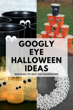 Halloween is such a fun holiday, and these 10 Googly Eye Crafts will help get you in the spirit of the season and be ready to craft up some spook! Halloween Eyes, Holidays Halloween, Christmas Holidays, Diy Halloween Decorations, Halloween Crafts, Halloween Stuff, Party Ideas For Teen Girls, Googly Eye Crafts, Barn Parties