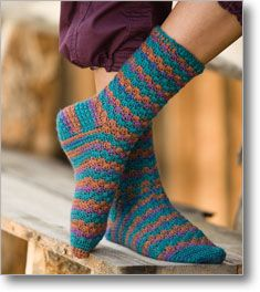 I am definitely going to crochet some socks. I had never tried that!