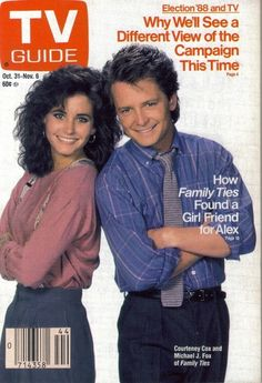 """TV Guide October """"Family Ties"""" Courtney Cox and Michael J. Paul Martin, Great Tv Shows, Old Tv Shows, Archie Comics, The Cast Of Friends, 1980s Tv Shows, Sean Leonard, Lauren Miller, Superman"""