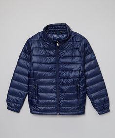 Look at this Navy Bubble Jacket - Boys on #zulily today!
