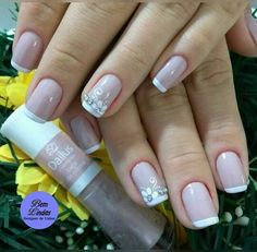 Pedicure Designs, Nail Designs, Nail Art Videos, Nude Nails, Manicure And Pedicure, Wedding Nails, Pretty Nails, You Nailed It, Simple Designs