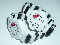 '2 pcs White Hello Kitty Adjustable Wood Bracelet' is going up for auction at  9am Wed, Dec 5 with a starting bid of $1.