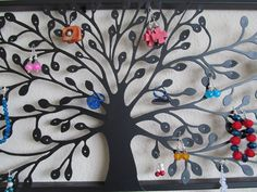 Jewelry Display Organizer Wall Hanging. $74.00, via Etsy.