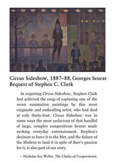 Seurat, Circus Sideshow, 1887-88