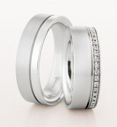 Mens White Gold Wedding Rings Sets