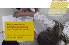 CONVOCATORIA - Actividad: Educación y Museo. | Temática: Estrategias Educativas para Espacios Culturales. | A cargo de: Lic. Natalia Martín. | Convocatoria: Inscripciones Abiertas. | Importante: Curso con Puntaje Docente (Minist. de Educación de Salta). | Lugar: macsa - Museo de Arte Contemporáneo de Salta. Información: Ampliar (Clic Aquí). http://www.macsaltamuseo.org/press/comunica/013/abr/act/actividad013EDUCAYMUSEOS.pdf