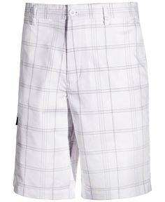 8740b2ba7 Greg Norman for Tasso Elba Men s Plaid Golf Shorts