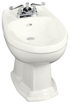 Kohler K 4896 0 Portrait Bidet Plumbed For Horizontal Spray Bidet
