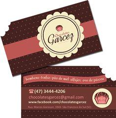 cartao de visita com chocolate - Pesquisa Google