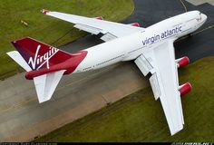 Virgin  Atlantic G-VROS    Boeing 747-443  English Rose   Departing Manchester for Orlando    15 October 2014