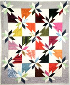 Hunter's Star Patchwork Quilt 53.5 136cm x 44.5 by StephsQuilts, $140.00