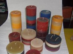 Recycling candles / making candles yourself Decoration - Kerzenherstellung Candle Making, Decoration, Pillar Candles, Tea Lights, Recycling, Diy And Crafts, How To Make, Blog, Handmade