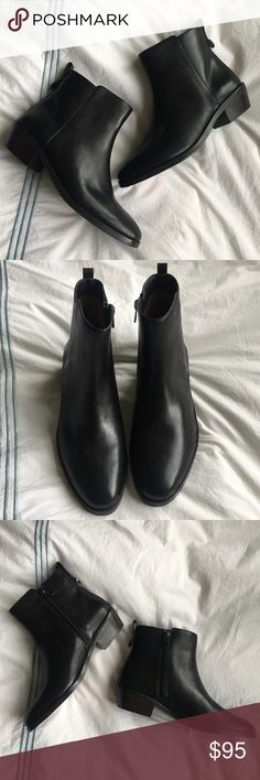 Coach Carmen black leather ankle bootie Love this classic look! NWT. Coach Shoes Ankle Boots & Booties