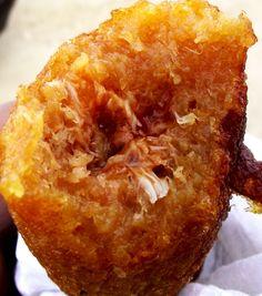Alcapurrias de jueyes.   ( Filled with crab)    http://elfogoncito.files.wordpress.com/2011/03/dscf2075-copy.jpg