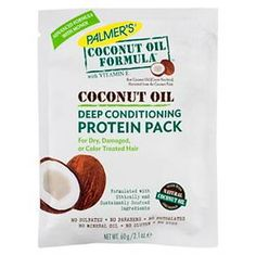 Palmers Coconut Oil Formula Deep Conditioning Protein Pack 2.1 oz : Target