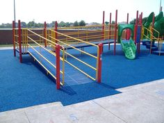ADA playground poured-in-place safety surface. Get it from Miller & Associates 1-800-953-8700!