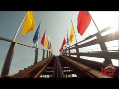 Video: Holiday World's Voyage wooden roller coaster POV in HD