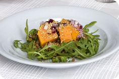 Zoete aardappel met rucola. Zowel geschikt als lunch en maaltijdsalade. #gezond #recept