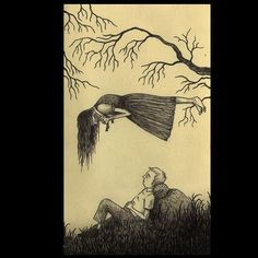 An afternoon nab and a ghost #johnkennmortensen #ghost #artwork #scary #spooky #creepy #loveatfirstsight