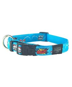 Rogz Comic Dog collar-Beach Bum-Large for sale online Dog Collar With Name, Collar And Leash, Maltese Poodle, Yorkie, Pet Shop Online, Dog Collars & Leashes, Beach Bum, Dress Beach, Metal Buckles