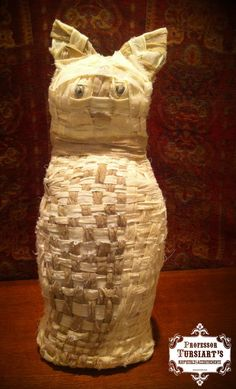 Mummified Ancient Egyptian Cat Prop Temple of Bast by TursiArt, $59.99