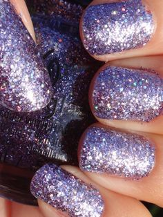 "China Glaze ""Pick Me Up Purple"" #glitterpolish - bellashoot.com"