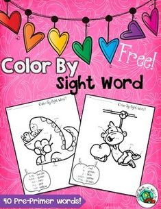 Freebielicious Color by Sight Words Such a fun way to learn