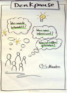 Denkpause Flipcharts, Coaching, Psychology, Workshop, Doodles, Primary Lessons, Training, Communication, School