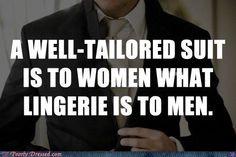 Or a man in uniform. yum.