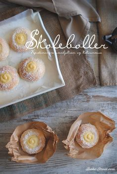 Skolebrød - Skoleboller What's For Breakfast, Breakfast Items, Biscuits, Sweet Dough, Bread And Pastries, Artisan Bread, How To Make Bread, Sweet Bread, Mini Cakes