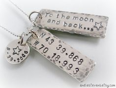 Sterling Silver Multi Tag To The Moon by andiestevensdesigns, $79.95