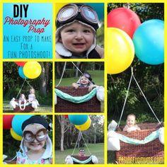 DIY Hot Air Balloon Photo Prop! Perfect for a Hot Air Balloon themed party!
