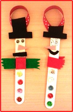 Check out these cute ornaments we made for our parents!