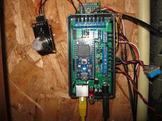Gas, water and electricity monitoring board.