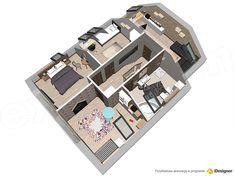 Projekt domu Lisandra XS 107,24 m2 - koszt budowy - EXTRADOM Floor Plans, Flooring, How To Plan, Houses, Wood Flooring, Floor Plan Drawing, Floor, House Floor Plans