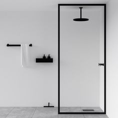 The best of minimal interior desig… Minimal black bathroom – black shower screen. The best of minimal interior design from designjunction – Nichba – danish design