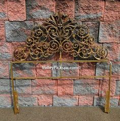 headboard Earth Tone Bedroom, French Rococo, Shabby Vintage, Metal Casting, Hollywood Regency, Fine Furniture, Beautiful Bedrooms, Earth Tones