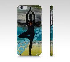 Étui I Pad mini, coque IPhone, Sérénité par Marika Lemay artiste mixed media pour protéger et embellir un téléphone de la boutique MarikaLemayArtiste sur Etsy