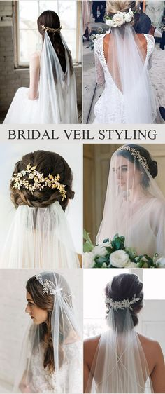 Bridal Hair Veil Styling Ideas