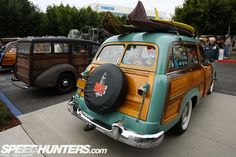 I don't know how to surf, but I ♥ this Ford Woody Wagon (minus all of the stickers on the windows)