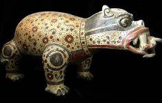Terracotta Sculpture of a Jaguar - PF.4166 Origin: Costa Rica Circa: 500 AD to 800 AD
