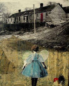 the red door by Maudstarr, via Flickr Mon premier souvenir-faire un collage avec photo et peinture